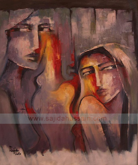 oil painting by sajida hussain