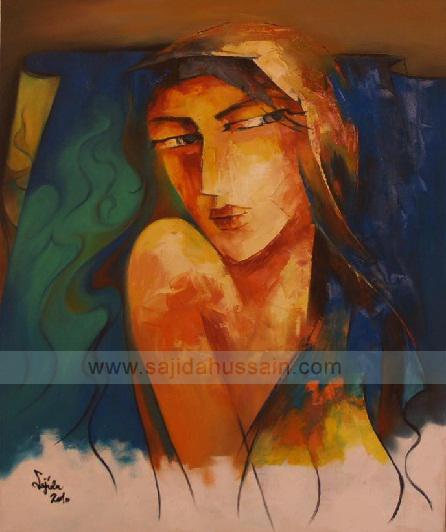 Creative portrait by sajida hussain pakistan art