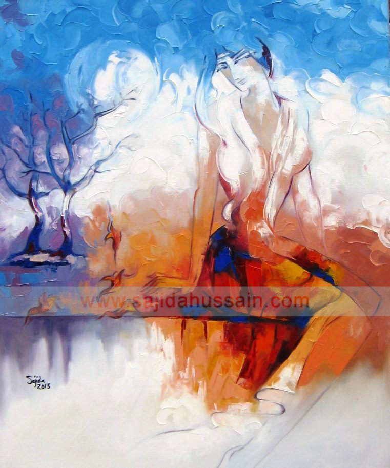 oil painting for sale modern contemporary best Art in Islamabad Pakistan