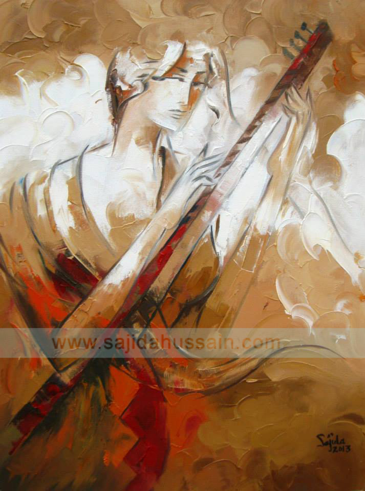 Modern Abstract Figurative Painting Pakistan