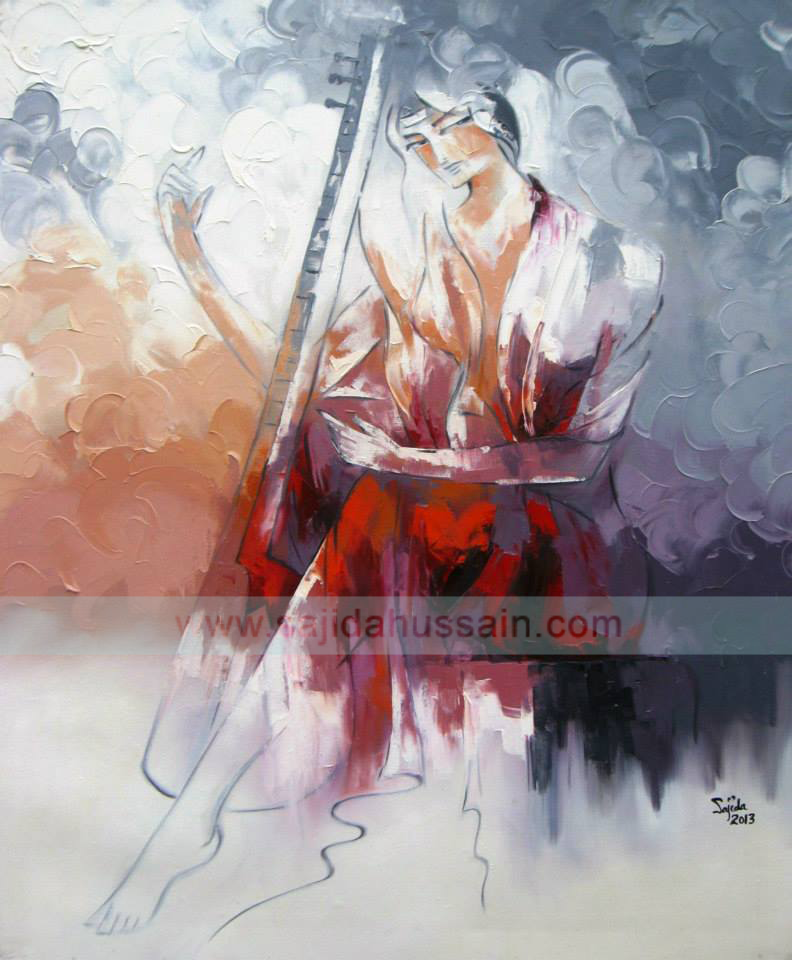 Figurative oil painting pakistan art gallery