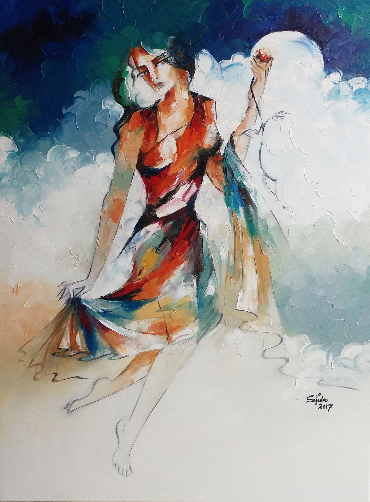 Figurative Oil Painting Islamabad Pakistan art