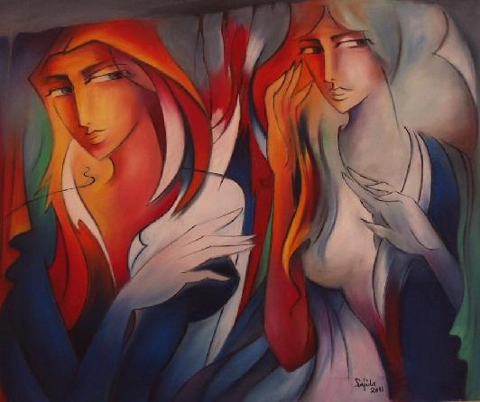 Pakistani Figurative Oil Painting