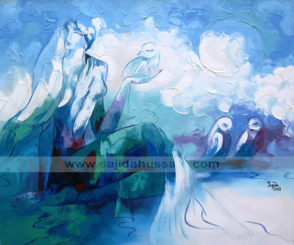 Pakistani artist Figurative original oil painting on canvas by Fine Artist Sajida Hussain Islamabad art, Lahore art, Karachi art, Pakistan art, Art Exhibition Pakistan, art for sale, paintings for sale, original paintings for sale, oil painting for sale, art classes, art class, modern art, wall art, contemporary art, best Art in Islamabad Pakistan, fine artist