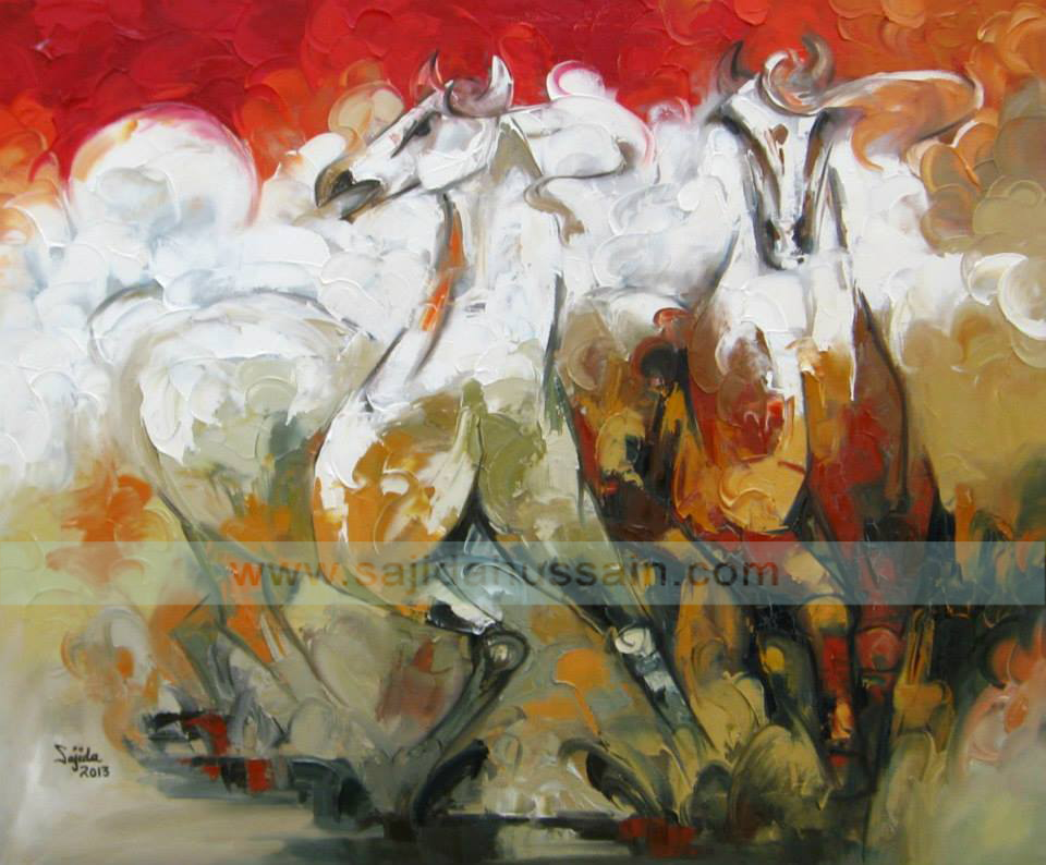 Horse original oil painting on canvas by Pakistani Fine Artist Sajida Hussain Islamabad, Lahore art, Karachi art, pakistan art today, Pakistan, Art Exhibition Pakistan, art shows, art classes, art class, modern art, wall art, contemporary art, best Art in Islamabad Pakistan,Fine arts Pakistan, dubai art gallery, horse painting dubai, fine arts dubai, art dubai