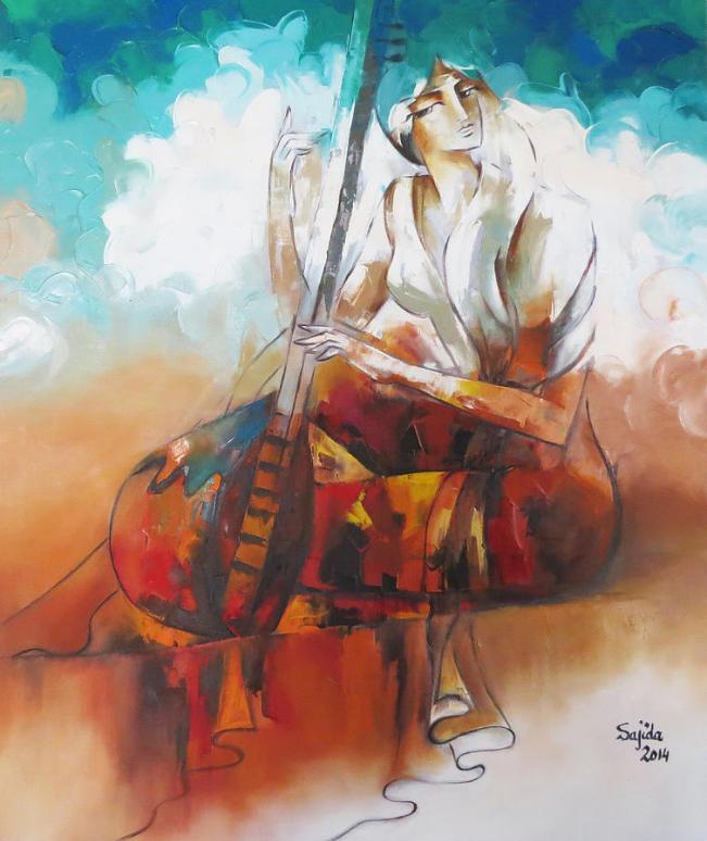 Pakistani art, Pakistan, Abstract figurative art