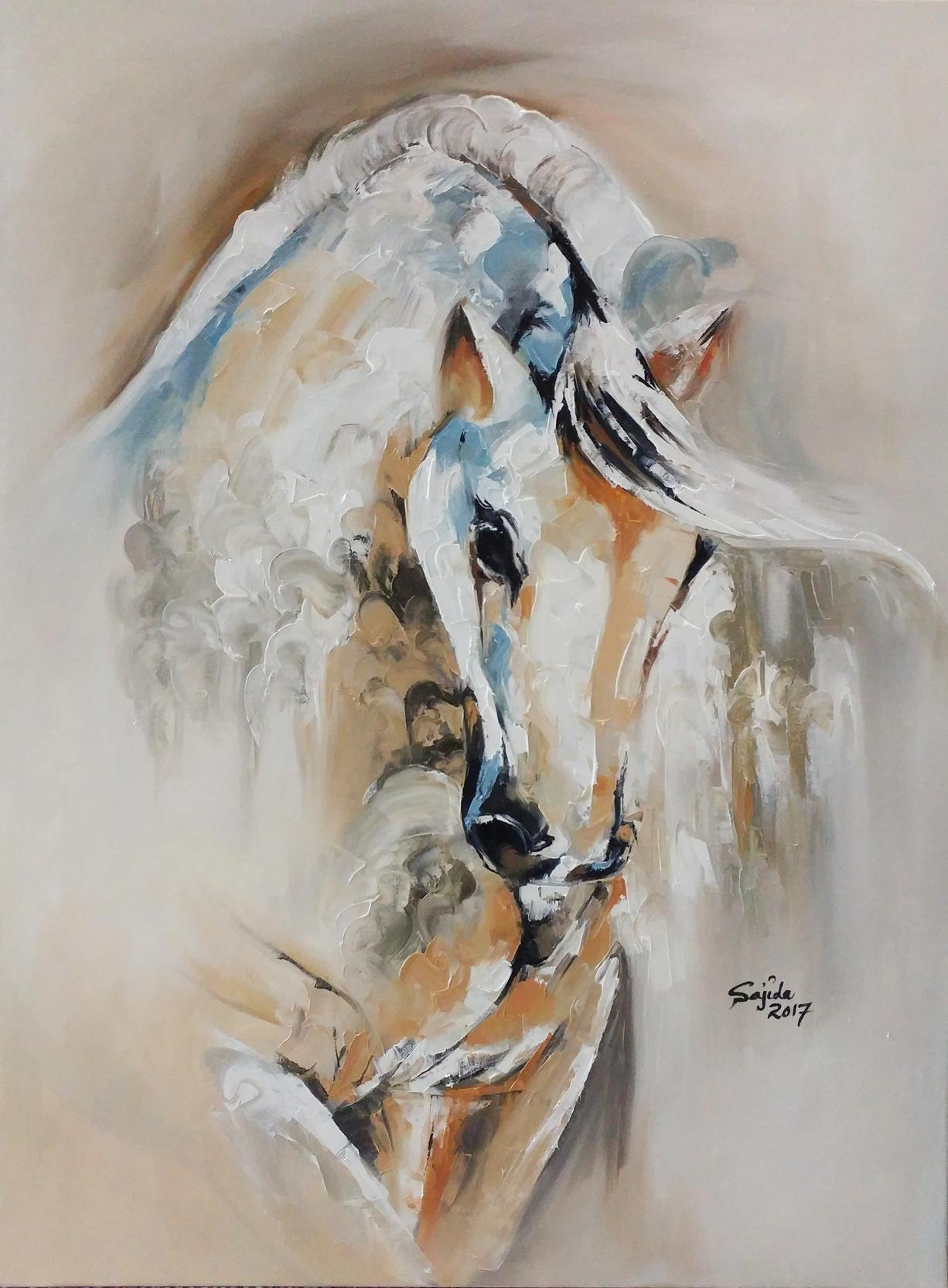 Pakistani artist oil on canvas by sajida hussain Islamabad Pakistan, pakistan art London, art now Pakistan, pakistani painter, pakistan artwork